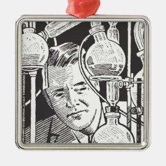Chemiker in Schwarzweiss Ornamente