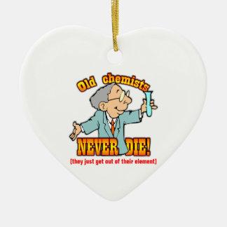 Chemiker Keramik Herz-Ornament