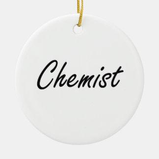Chemiker-künstlerischer Job-Entwurf Rundes Keramik Ornament