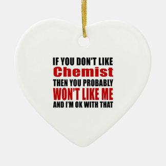 Chemiker mögen nicht Entwürfe Keramik Herz-Ornament