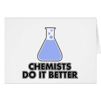 Chemiker verbessert es grußkarte