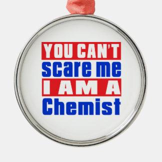 Chemikerschreckensentwürfe Rundes Silberfarbenes Ornament