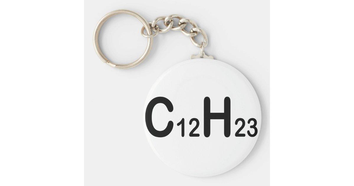 Chemische Formel Des Dieselbrennstoffs Schlüsselanhänger Zazzlede