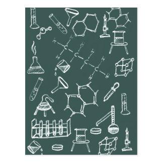 Chemische Labradorausrüstungsgekritzel Postkarte