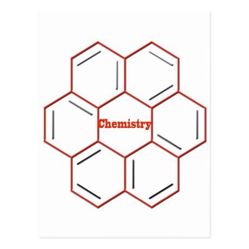 Chemische Struktur in der Chemie Postkarte