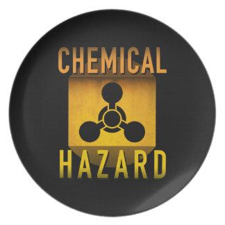 Chemisches Gefahrensymbol-Retro Melaminteller