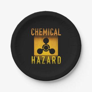 Chemisches Gefahrensymbol-Retro Pappteller