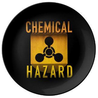Chemisches Gefahrensymbol-Retro Teller