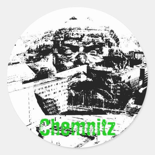 Chemnitz Runder Aufkleber