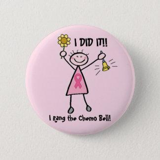 Chemo Bell - rosa Band-Brustkrebs Runder Button 5,7 Cm