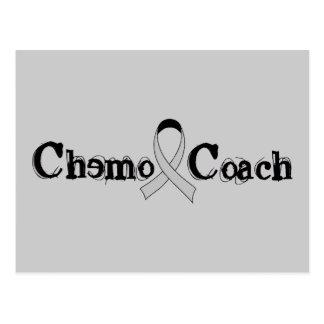 Chemo Trainer - grauer Band-Hirntumor/Krebs Postkarte