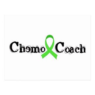 Chemo Zug - grünes Band Postkarte