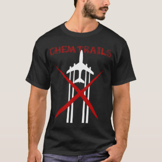 Chemtrails sind falsches dunkles T-Shirt