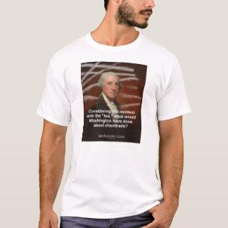 Chemtrails, Verschwörungen und George Washington T-Shirt