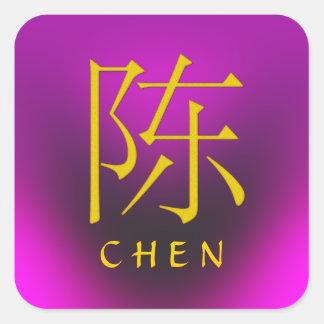 Chen-Monogramm Quadrat-Aufkleber