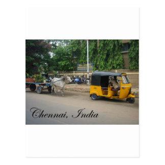 Chennai, Indien Postkarte