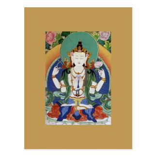 Chenrezig Bodhisattva des Mitleids Postkarte