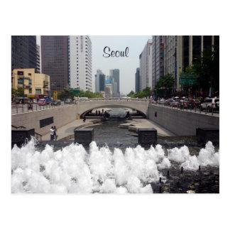 cheonggyecheon Seoul Postkarte