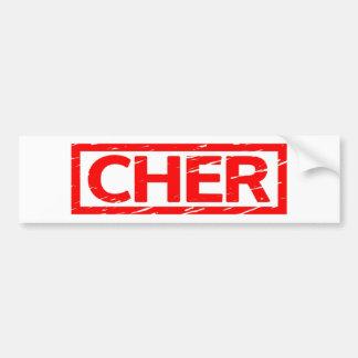Cher-Briefmarke Autoaufkleber