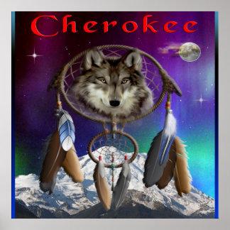Cherokee indisches Plakat