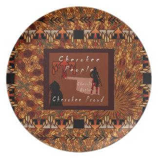 Cherokee Leute Melaminteller