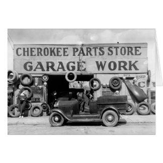 Cherokee Teil-Speicher, 1936 Karte