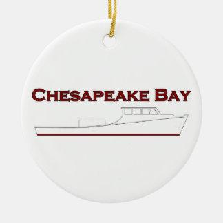 Chesapeake Bay Deadrise Workboat Rundes Keramik Ornament