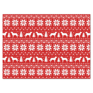 Chesapeake Bay-Retriever-Weihnachtsmuster-Rot Seidenpapier