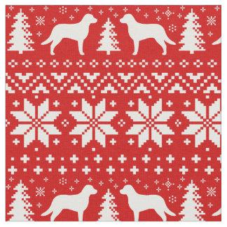 Chesapeake Bay-Retriever-Weihnachtsmuster-Rot Stoff