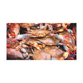 Chesapeake-Bucht-blaue Krabben-Leinwand-Kunst Leinwanddruck