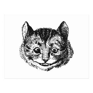 Cheshire-Katze Postkarte