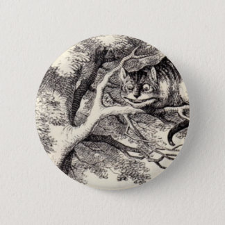Cheshire-Katze Runder Button 5,1 Cm