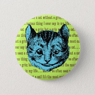 Cheshire-Katze - Vintage Alice im Wunderland Runder Button 5,1 Cm
