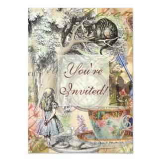Cheshire-Katzen-Alice im Wunderland Karte