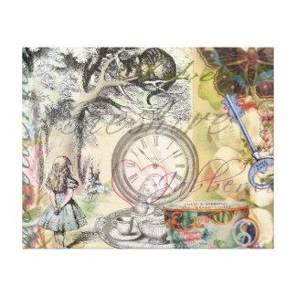 Cheshire-Katzen-Alice im Wunderland Leinwanddruck