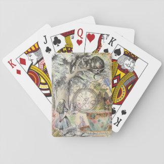 Cheshire-Katzen-Alice im Wunderland Spielkarten