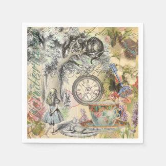 Cheshire-Katzen-Alice im Wunderland Papierservietten