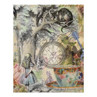 Cheshire-Katzen-Alice im Wunderland Poster