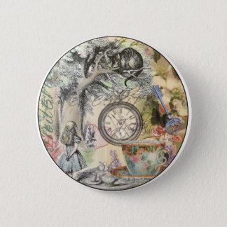 Cheshire-Katzen-Alice im Wunderland Runder Button 5,7 Cm