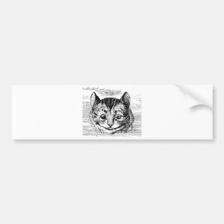 Cheshire-Katzen-Gesicht Autoaufkleber