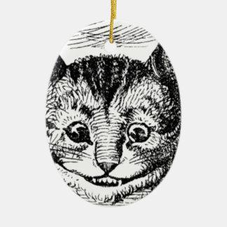 Cheshire-Katzen-Gesicht Keramik Ornament