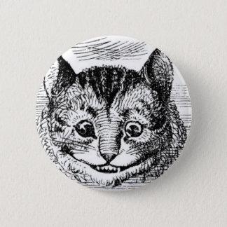 Cheshire-Katzen-Gesicht Runder Button 5,1 Cm