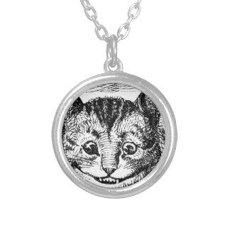 Cheshire-Katzen-Gesicht Versilberte Kette