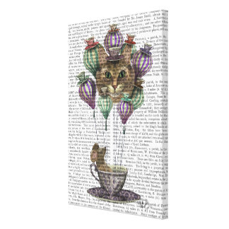 Cheshire-Katzen-Heißluft-Ballon Leinwanddruck
