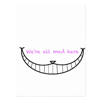 Cheshire-Katzen-Lächeln Postkarte