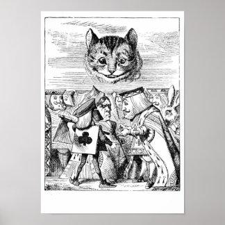 Cheshirekatze und -abgabe poster