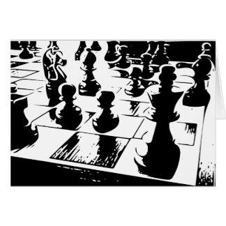 Chess Gamer Grußkarte