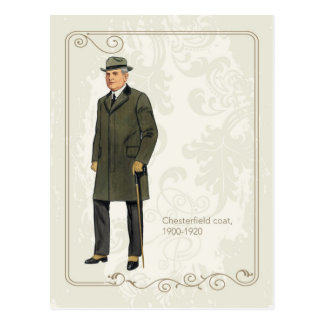Chesterfield-Mantel Postkarte