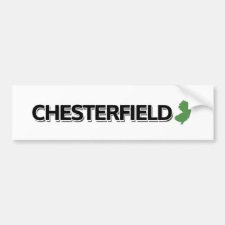 Chesterfield, New-Jersey Autoaufkleber