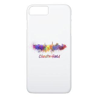 Chesterfield skyline im Watercolor iPhone 8 Plus/7 Plus Hülle